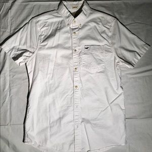 Hollister White Button Down T-Shirt